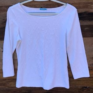J. McLaughlin | White Catalina Cloth Blouse Small